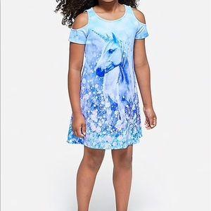 fc5668d0c4d2 Justice Dresses - ⭐️2 for $15 Justice cold shoulder unicorn dress